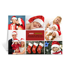 6 Photo Collage Happy Merry - Red