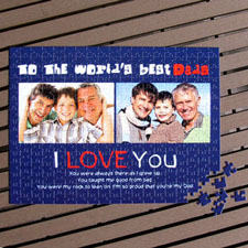 Personalized Jigsaw Puzzle Father's Day Gift for Dad