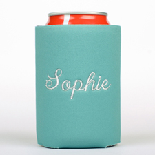 Peacock Monogrammed Personalized Embroidered Can Cooler