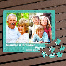 Personalized Photo Puzzle Grandparent's Day Gift