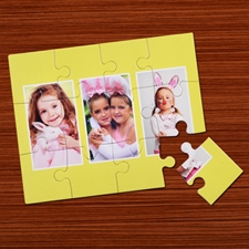 Personalized Large Piece Photo Puzzle Easter Gift