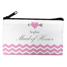 Pink Love Arrow Personalized Cosmetic Bag, 4X7