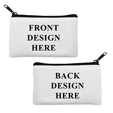 Custom Imprint 3.5X6 Cosmetic Bag Black Zipper (Different Image)
