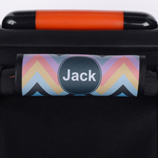 Colorful Chevron Personalized Luggage Handle Wrap