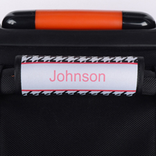 Black Houndstooth Personalized Luggage Handle Wrap