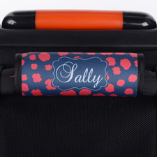 Red Navy Leopard Personalized Luggage Handle Wrap