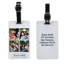 Stripe Four Collage Personalized Luggage Tag