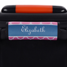 Pink Clover Personalized Luggage Handle Wrap