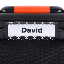 Black Circle Grey Frame Personalized Luggage Handle Wrap