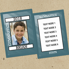 Gymnastics Personalized Photo Trading Cards  Set Of 12