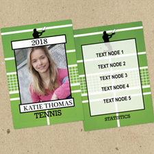 Tennis Personalized Photo Trading Cards  Set Of 12