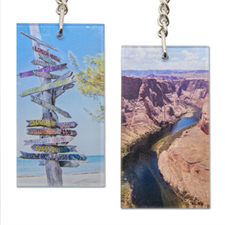 Personalized Acrylic Keychain Rectangular 1.5