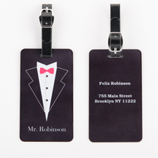 Mr. Personalized Wedding Luggage Tag