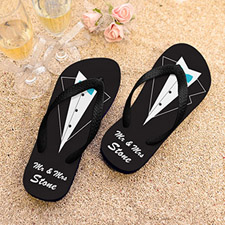 Mr. Personalized Wedding Flip Flops, Kid's Medium
