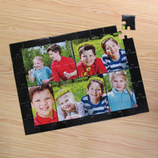 Five Photo Collage Puzzle, Black