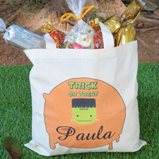Frankestein Personalized Trick or Treat Bag