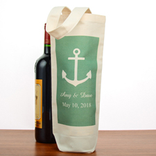 Anchor Personalized Cotton Wine Tote