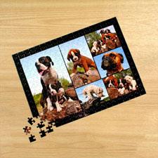 Six Photo Collage, Black