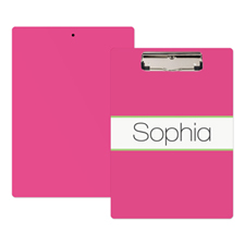 Pink Lime Stipe Personalized Clipboard