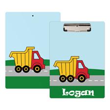 Kids Truck Personalized Clipboard