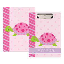 Smiley Turtle Personalized Clipboard