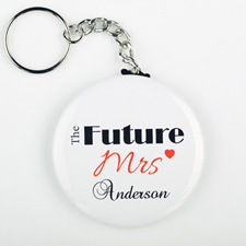 Future Mrs. Personalized Button Keychain
