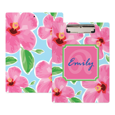 Bright Floral Personalized Clipboard