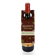 Season's Greetings Personalized Wine Tag, set of 6