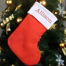 Embroidered Name Mix and Match Christmas Stocking