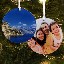 Personalized Photo Acrylic Ornament Round Shape