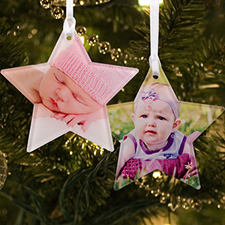 Personalized Photo Acrylic Ornament Star Shape