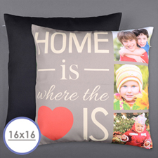 Home Is Love Personalized Photo Pillow Cushion Cover 16