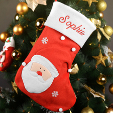 Personalized Embroidered Santa Christmas Stocking