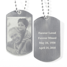 Engrave Photo & Text Dog Tag Pendant