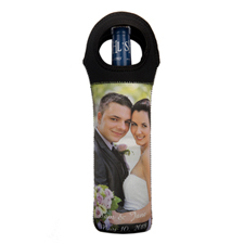 Personalized Photo Neoprene Wine Tote Bag (Custom 1-Side)