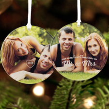 Our Very First Christmas Personalized Photo Acrylic Ornament