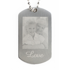 Custom Photo Engrave Message Pendant Dog Tag