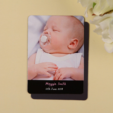 Personalized Meet Mr Black Birth Announcement Photo Magnet