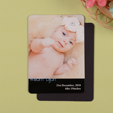 Personalized Meet Miss Black Birth Announcement Photo Magnet