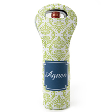 Lime Blue Vintage Personalized Neoprene Wine Tote