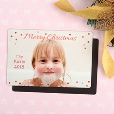 Merry Personalized Christmas Photo Magnet 4x6 Large
