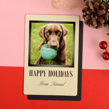 Happy Holidays Personalized Photo Magnet 4x6 Large
