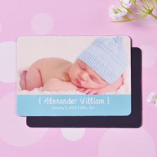Personalized Hello Boy Birth Announcement