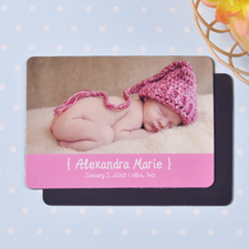 Hello Girl Birth Announcement Photo Magnet