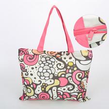 Custom All Over Print Tote Bag With Zipper,  11x14