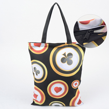 Custom All Over Print Tote Bag With Zipper, 17.5x13.5