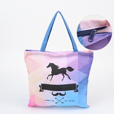Custom All Over Print Tote Bag With Zipper, 16x16