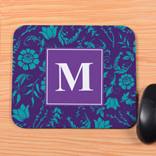 Purple Blooms Personalized Mousepad