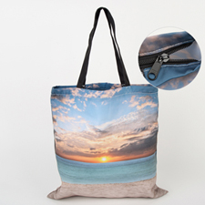 All Over Print Tote Bag With Zipper 16x16