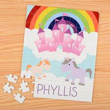 Unicorn Personalized Name Kids Puzzle, 8x10